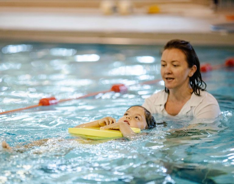 Swimming lessons at Woodrow Leisure Centre in Amersham