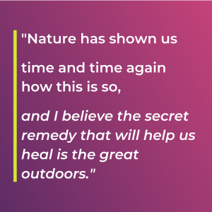 Woodrow High House Outdoor Classroom Day Quote